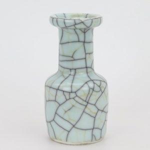 RYXC18-M Longquan celadon geyao crack glaze iron line grain square pot vase small vases