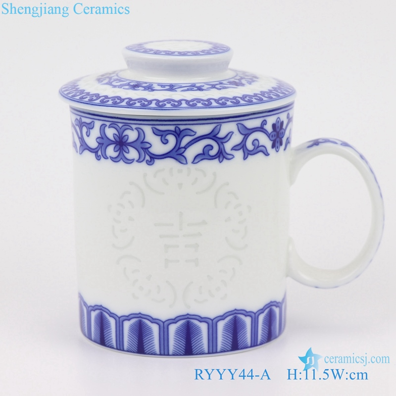 Blue and white exquisite water cup porcelain