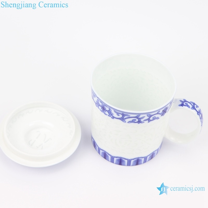 exquisite carving blessing cup inside view