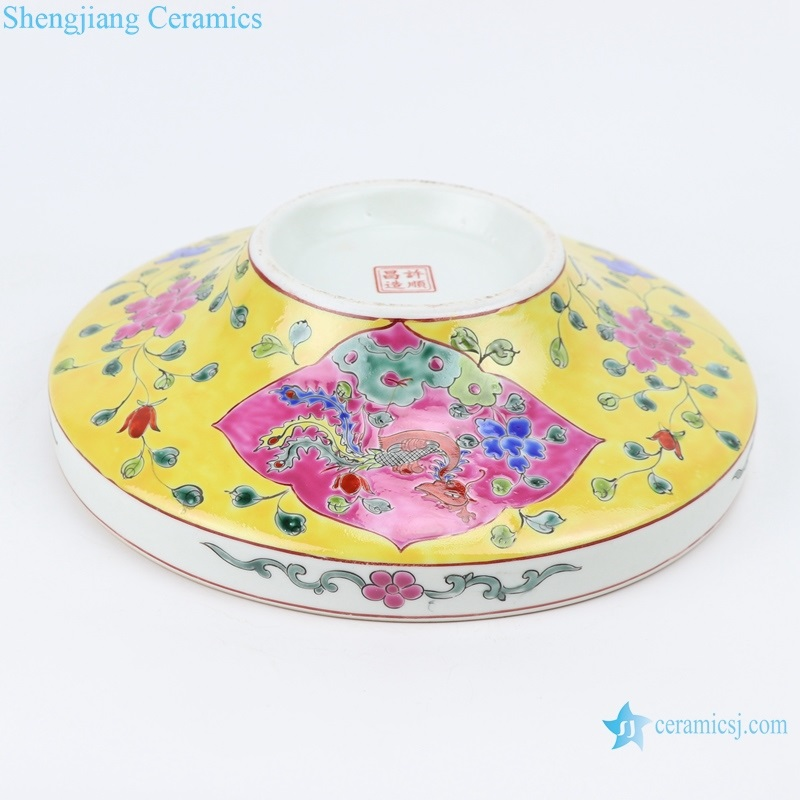chinese style ancient qing dynasty high-foot fruit bowl