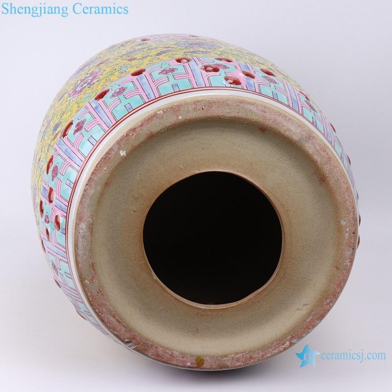 Jingdezhen Shengjiang ceramic stool bottom