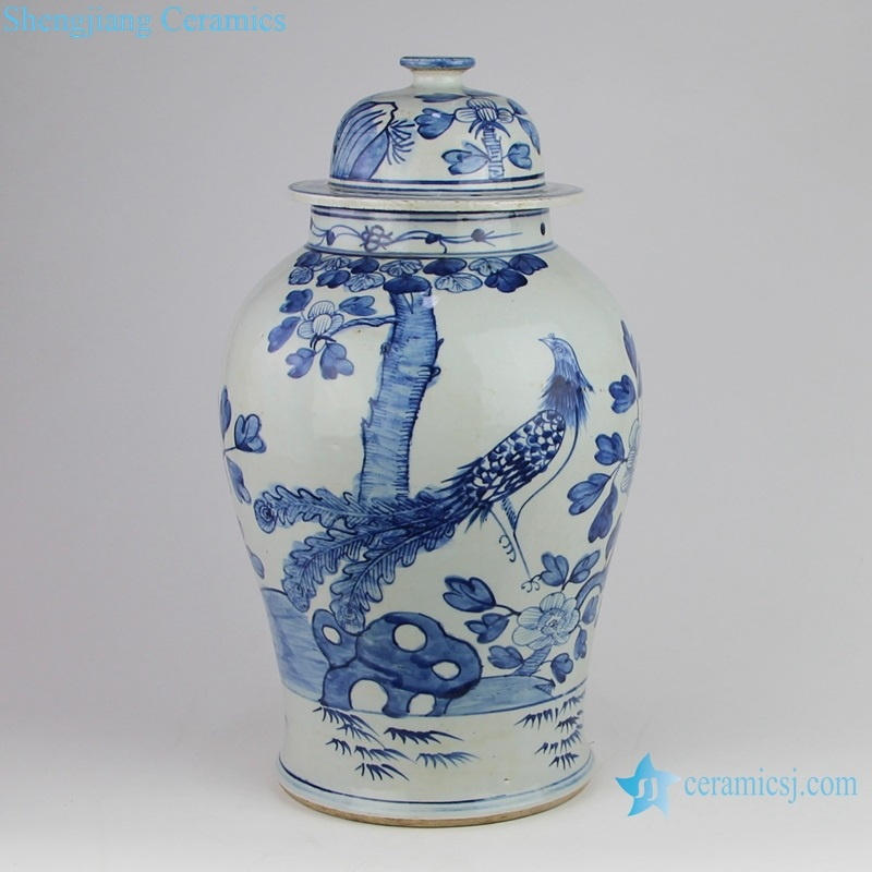blue and white phoenix nirvana fire general pot