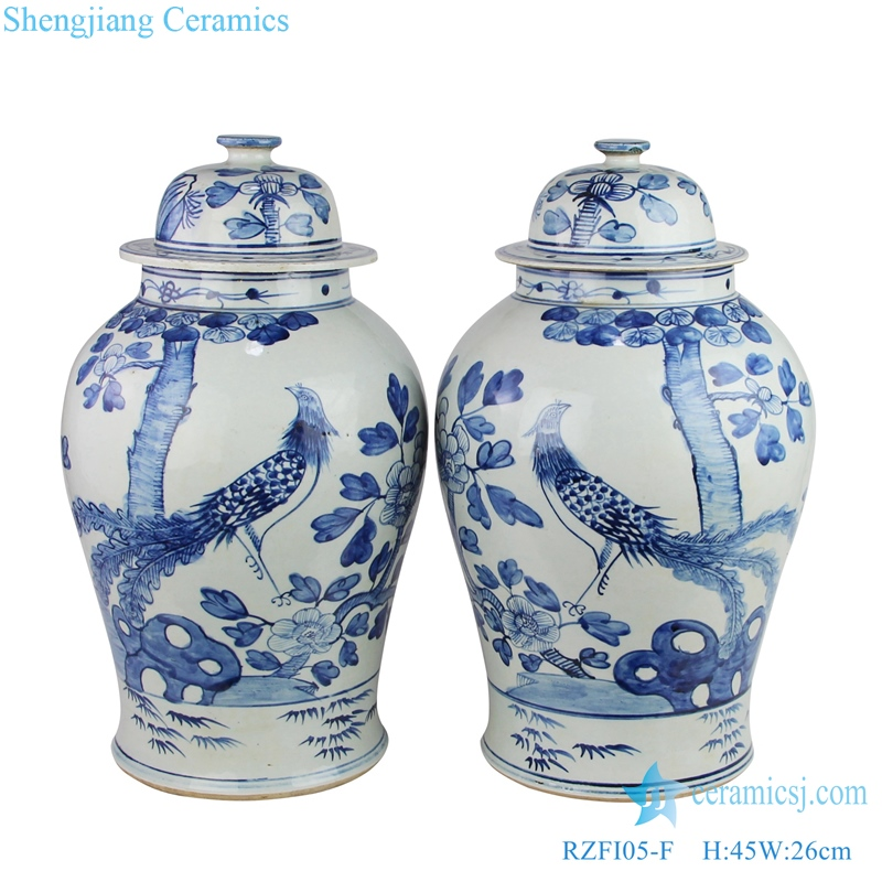Jingdezhen Archaized flower and bird general pot