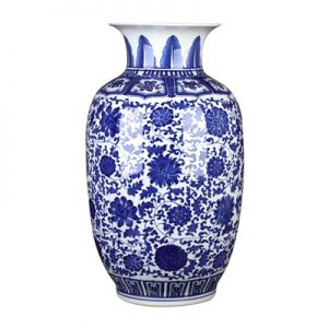 RZGM07-B Jingdezhen Shengjiang blue and white lotus gourd bottle