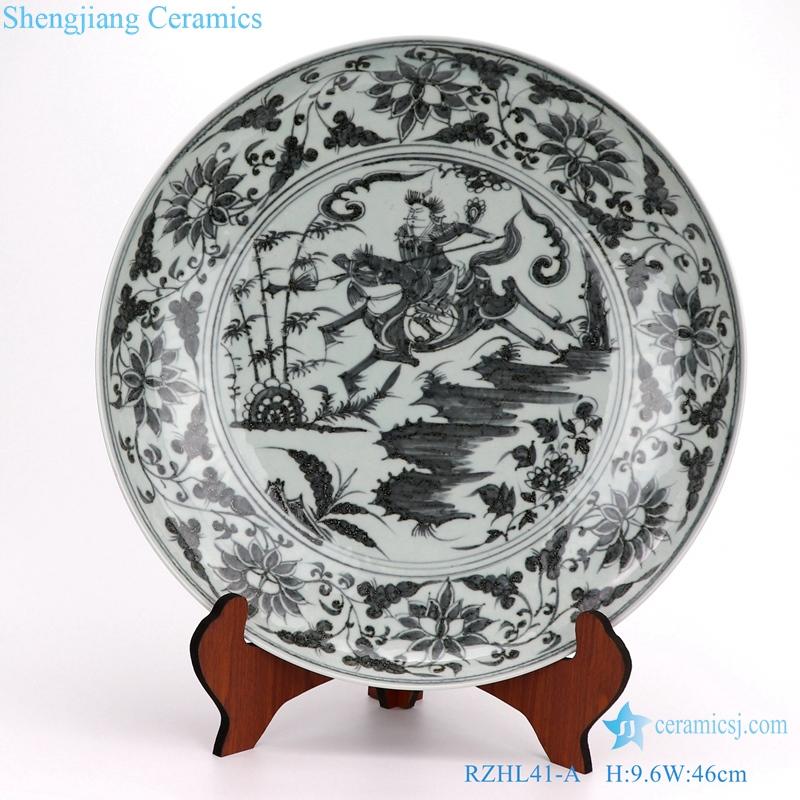 Archaize hand-painted yuan porcelain disc