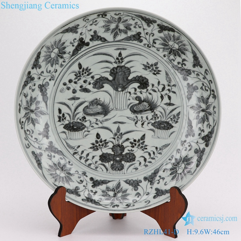 Chinese style Archaize porcelain disc decoration