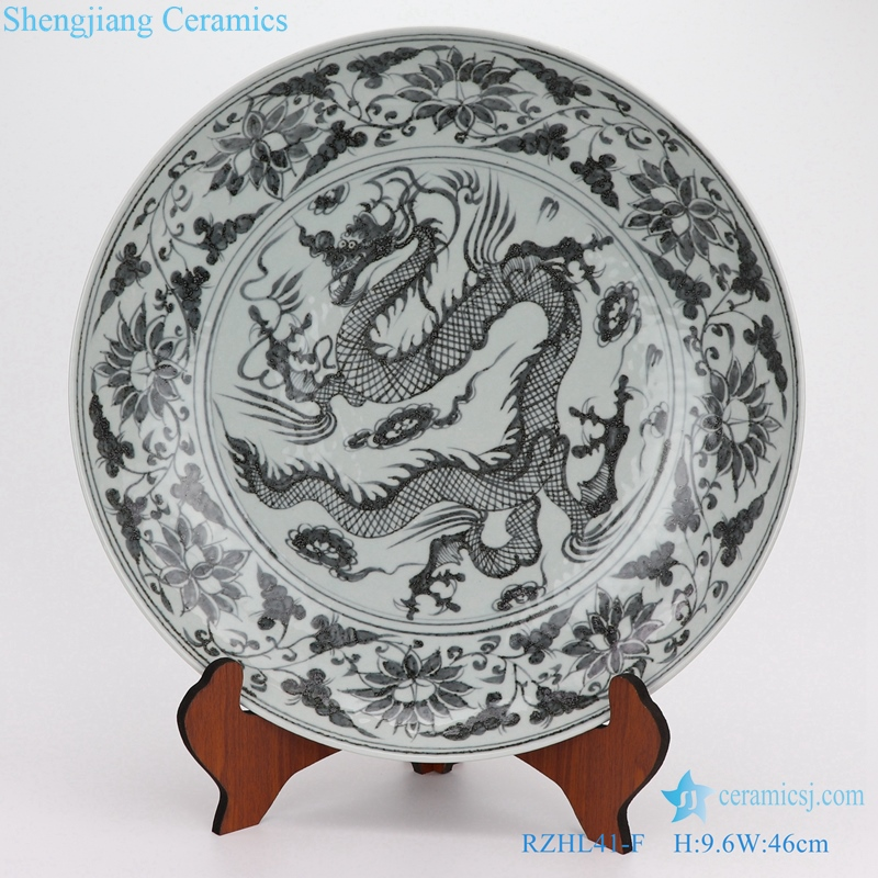 yuan blue and white porcelain disc