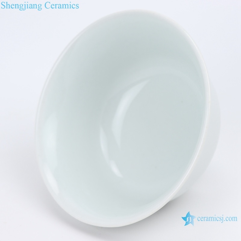 RZIN13 Jingdezhen White porcelain open bowl 4.3 inches white bowl