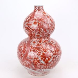 RZIS06-sma-B Fanghum series flowers Kowloon print large bottle gourd
