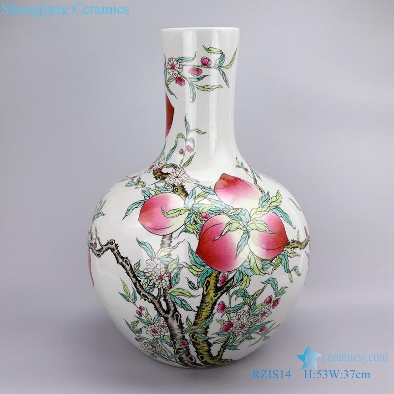 Archaize qing qianlong painted ceramic front view