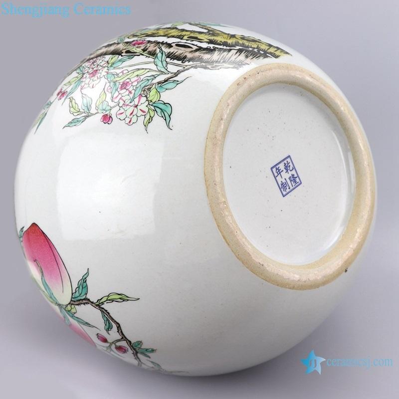 Enamel porcelain archaize bottom qianlong year signature