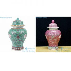 RZBU03-BorC Powder enamel pot with endless longevity and phoenix tail pattern