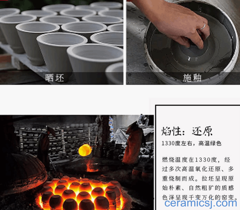 Fine ceramic production in the glaze and porcelain