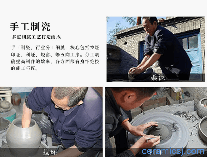 The best craftsmen are making pottery
