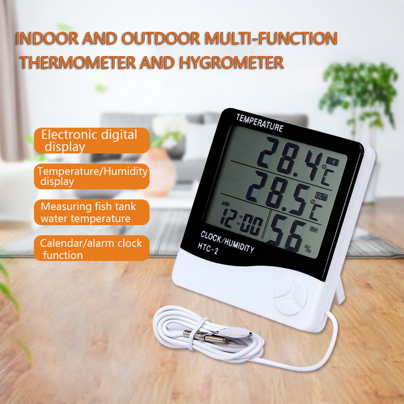 Urijk 1pcs LCD Electronic Digital Thermometer Hygrometer