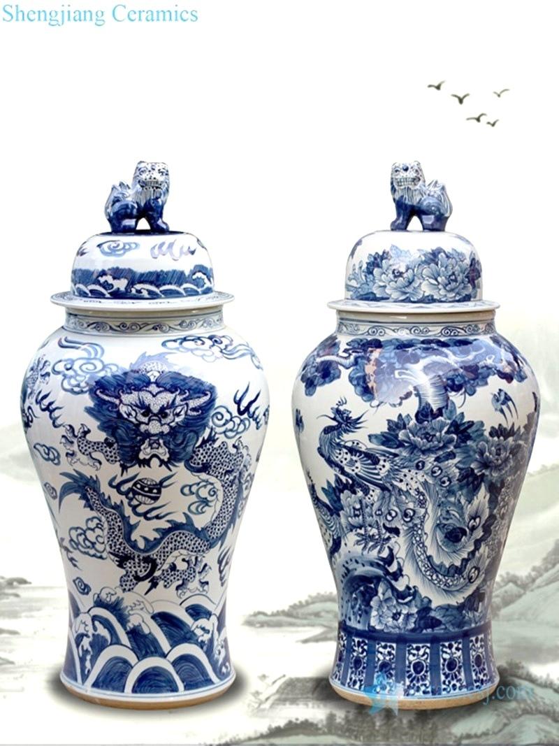 jingdezhen antique porcelain general jar decoration