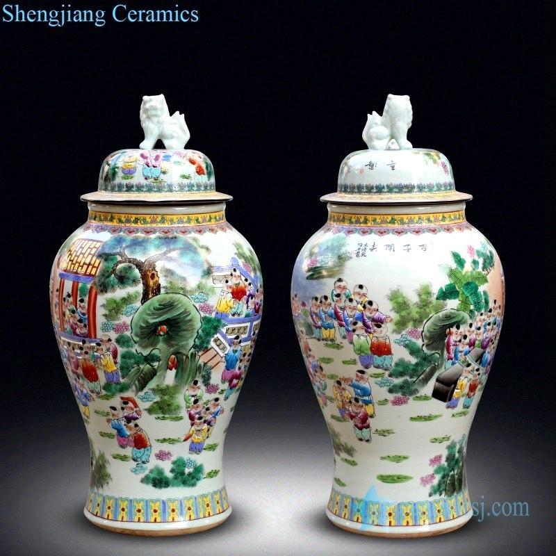 shengjiang beautiful multicolor large jar