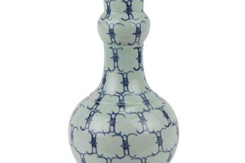 RZJG03 Jingdezhen imitation yongzheng blue and white baishou vase