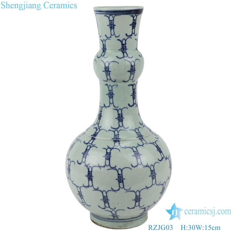 imitation yongzheng baishou vase front view
