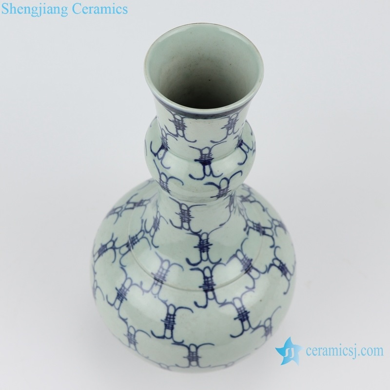 shengjiang blue and white baishou vase inside view