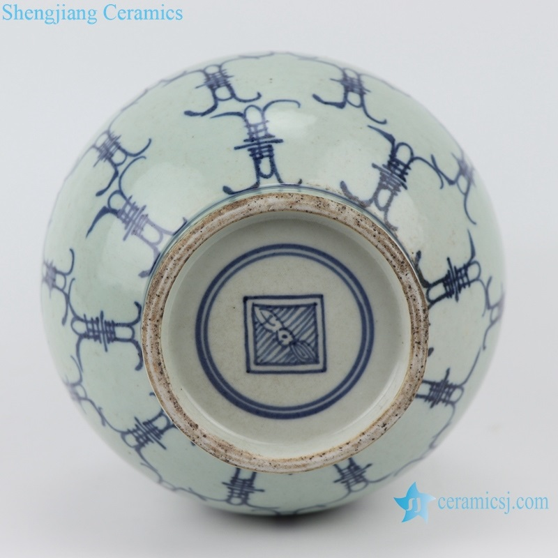 Porcelain capital blue and white porcelain bottom