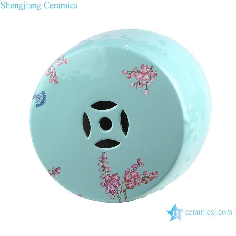 shengjiang beautiful color glaze cool stool