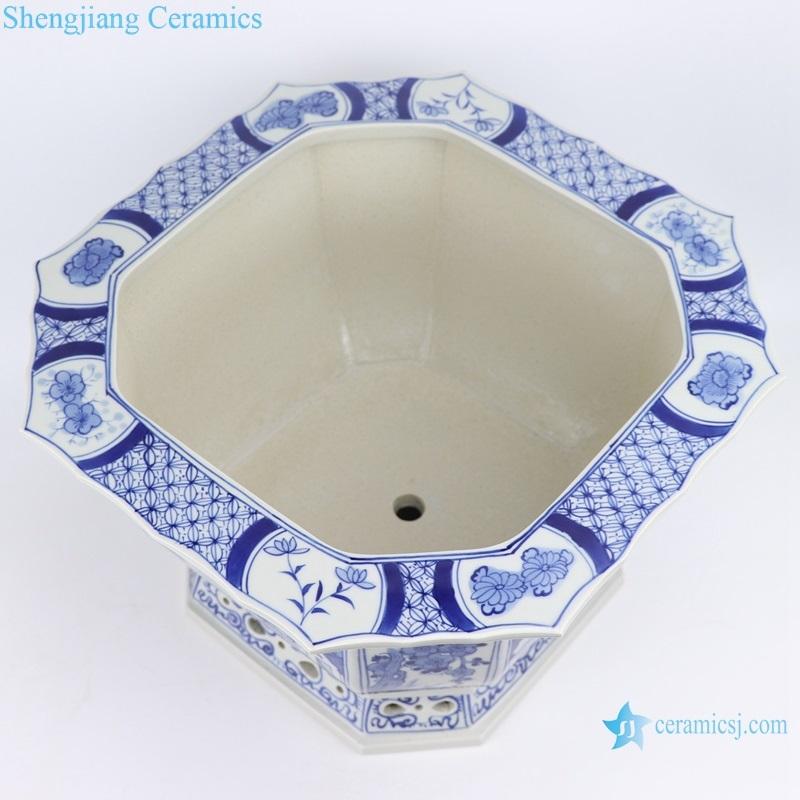 jingdezhen blue and white landscape porlain inside view