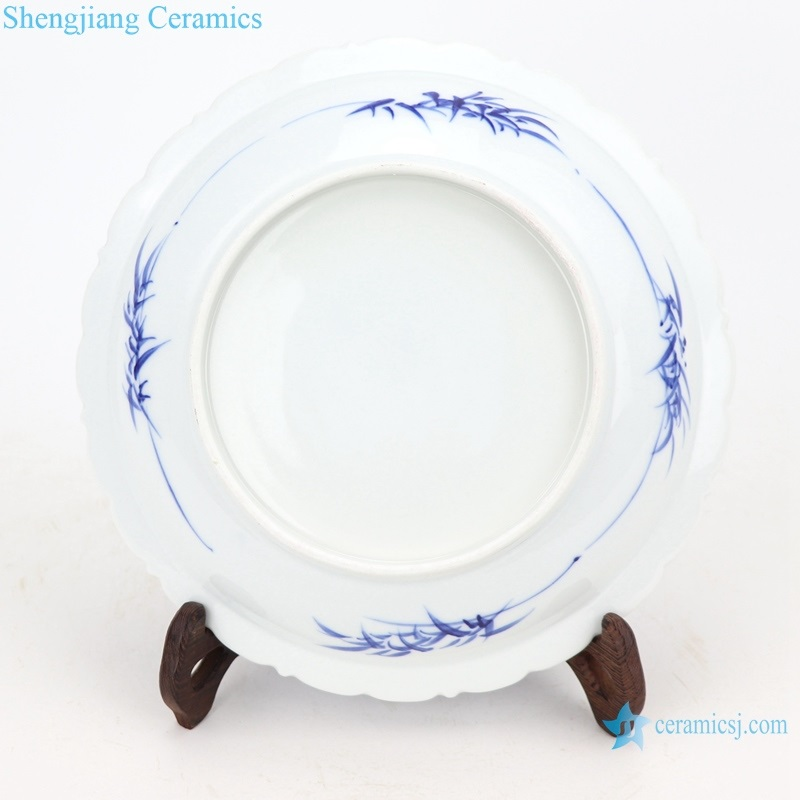beautiful chinese porcelain plate bottom view