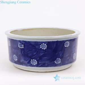 RZKT28-A-B Jingdezhen shengjiang traditional ceramic archaize old blue and white vats