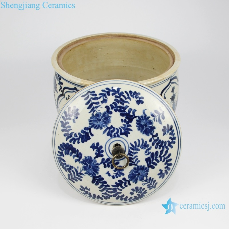 jingdezhen ceramic cover color and interior view