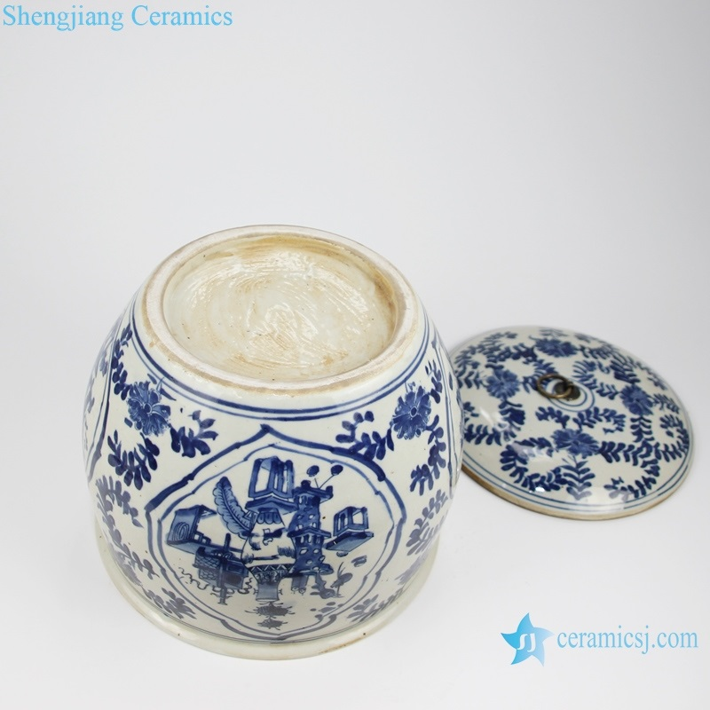 china tea canister with lid storage canister