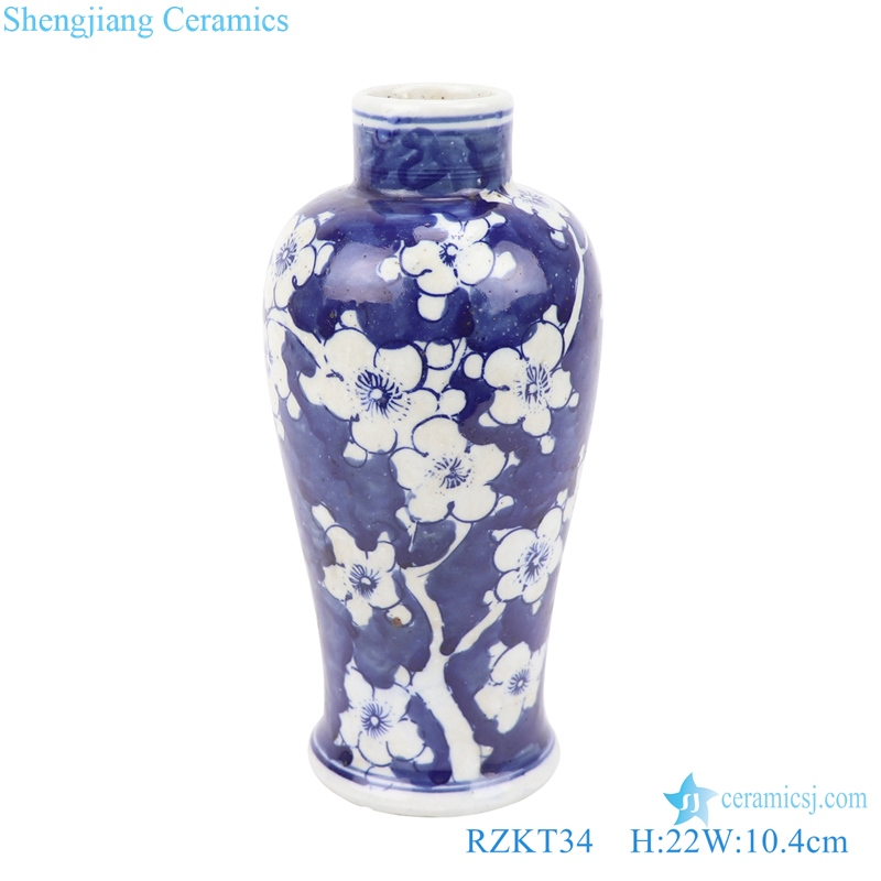 Jingdezhen hand-painted ice plum vase
