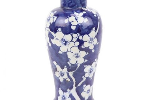 RZKT34 Jingdezhen traditionnal beautiful blue and white hand-painted ice plum vase small vase