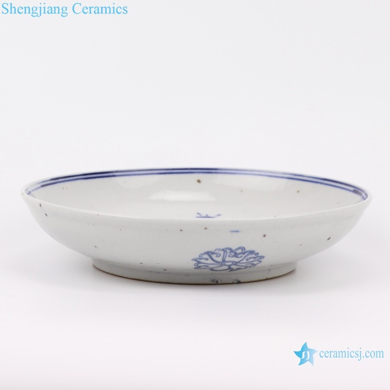jingdezhen blue and white plate side view