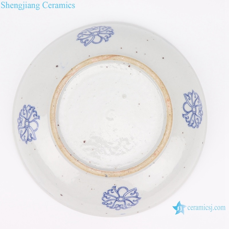 shengjiang antique china plate bottom view