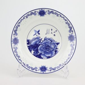 RZKX17-A Blue and white exquisite flowers into 8 - inch deep plate soup plate