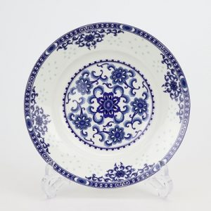 RZKX17-B Blue and white exquisite flower wealth exquisite 8 inch deep plate soup plate