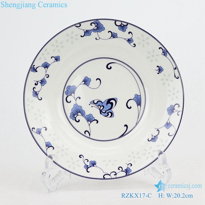 linglong flowers butterfly love flower plate