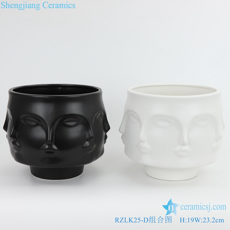 Shengjiang ceramic face vases pure Mary front view