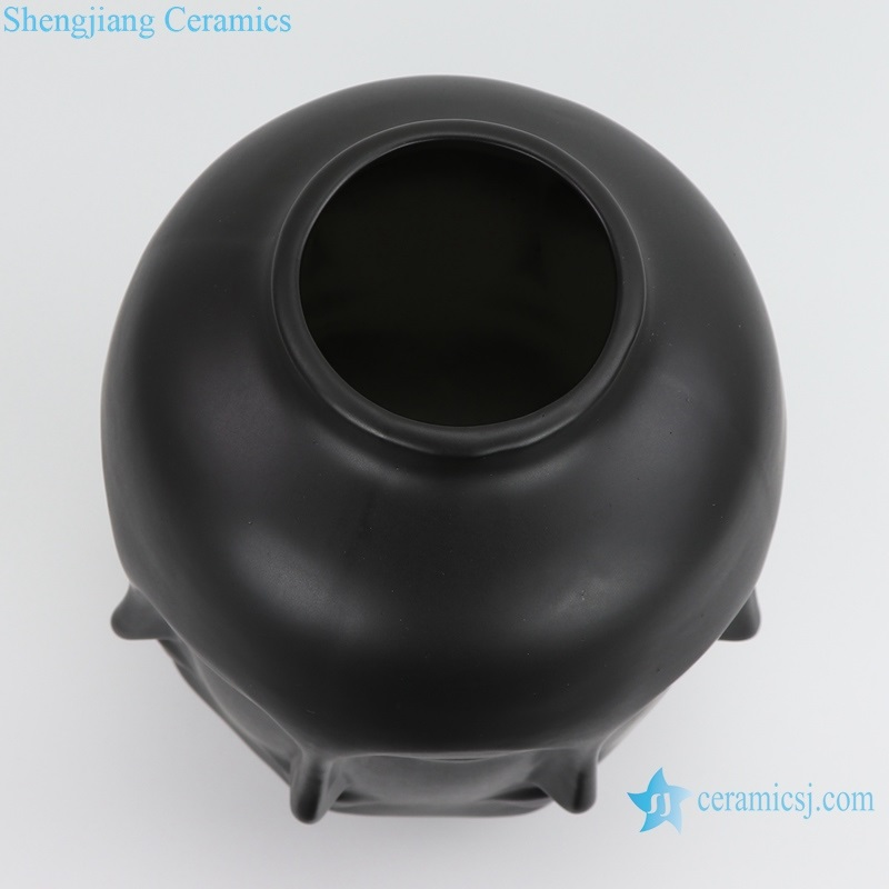 Nordic Muse matte vase with eight faces top view