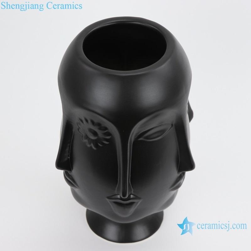 Scandinavian Muse matte china vase top view
