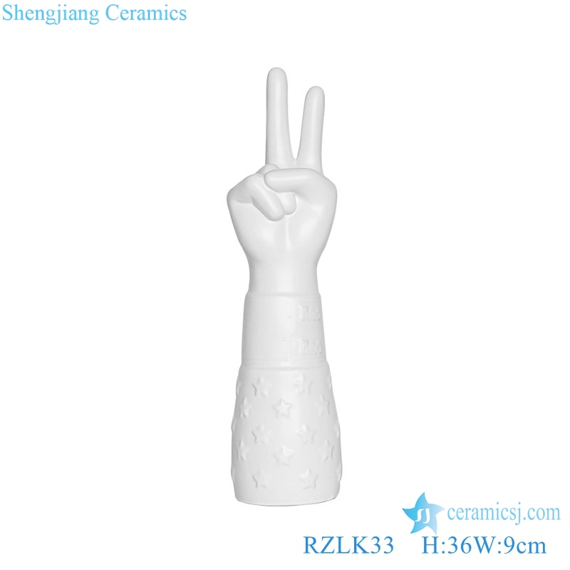 Jingdezhen ceramics victory hand decoration