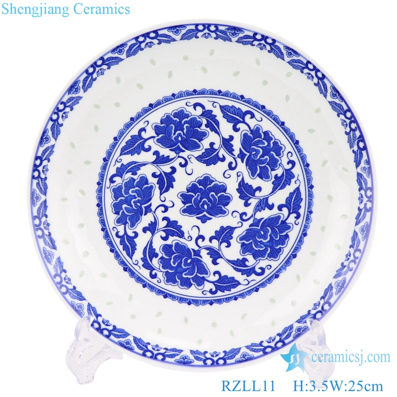 Jingdezhen blue-and-white porcelain linglong front view