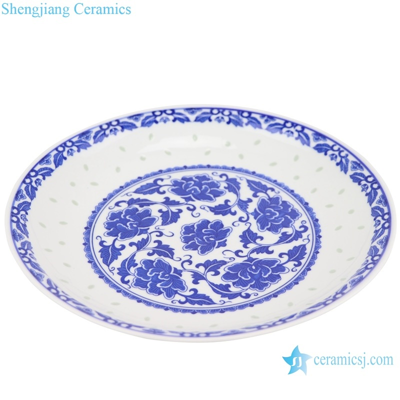 Traditional blue-and-white porcelain deep dish