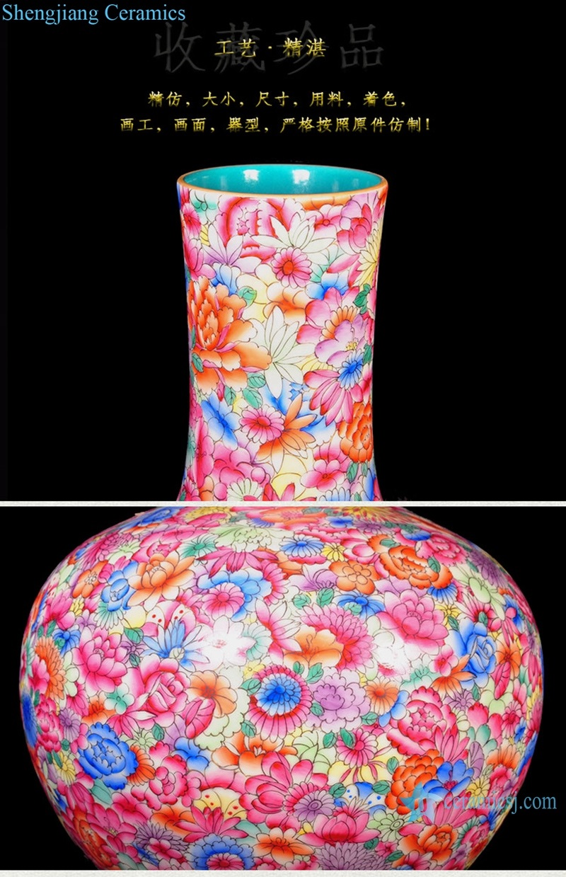 details of the vase painted in pastel
