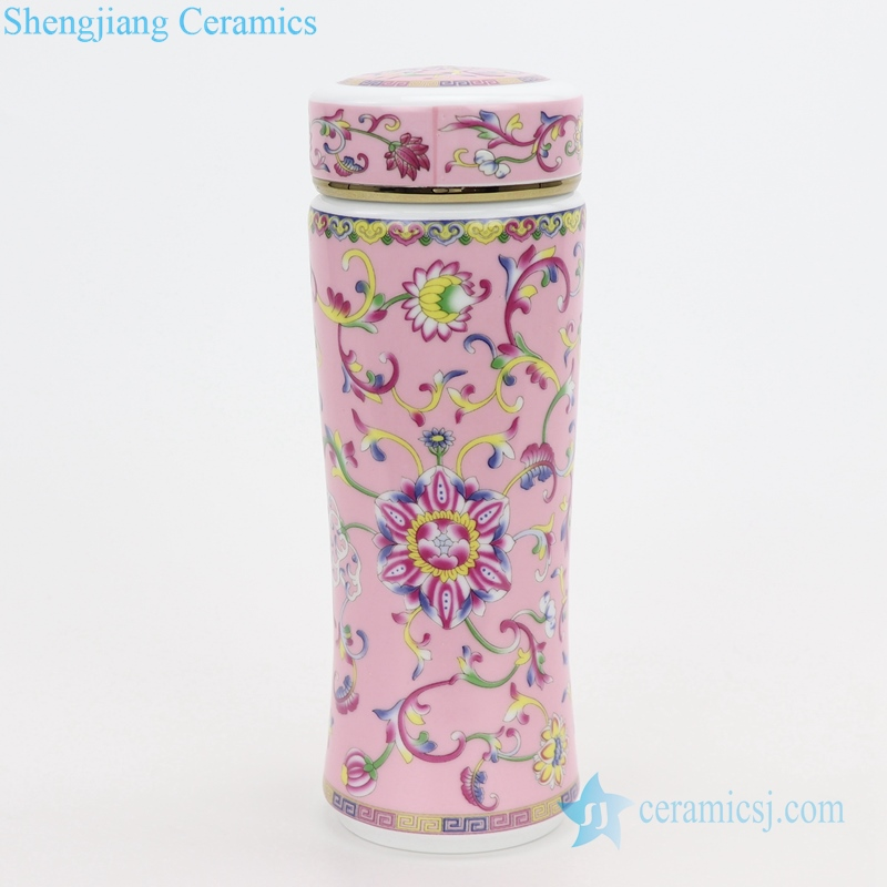 shengjiang water glass ceramic cup pink