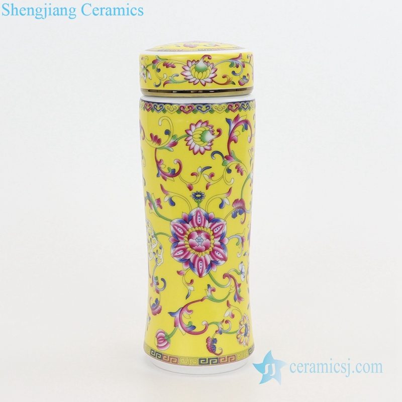 Jingdezhen antique enamel color ceramic yellow