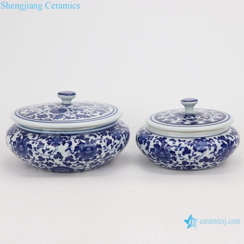 Jingdezhen tea pot small and big band cover round