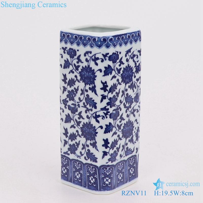Chinese porcelain blue and white pen tube vase