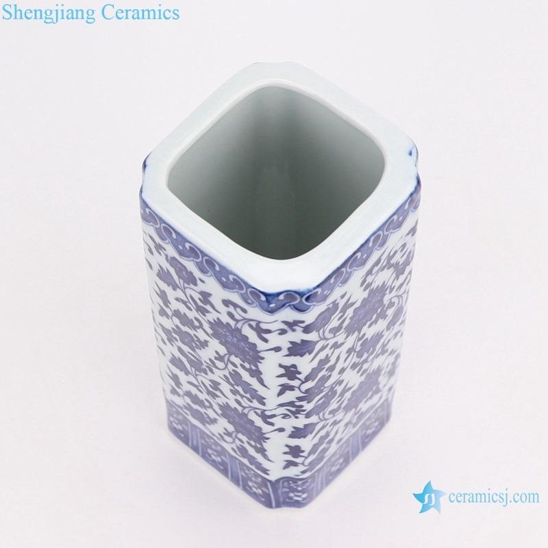 jingdezhen blue and white pen tube vase